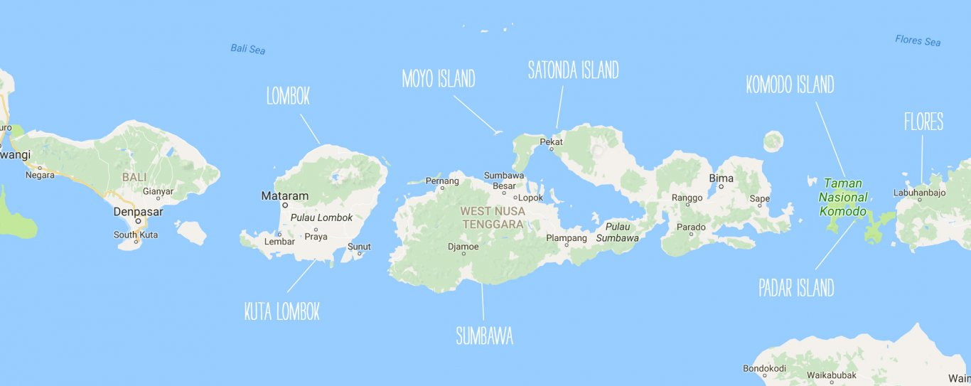 Island Hopping Indonesia - Map