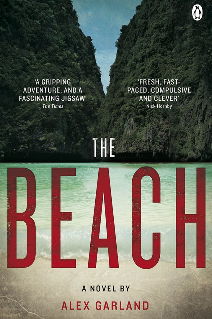The beach book cover - island and sea in background