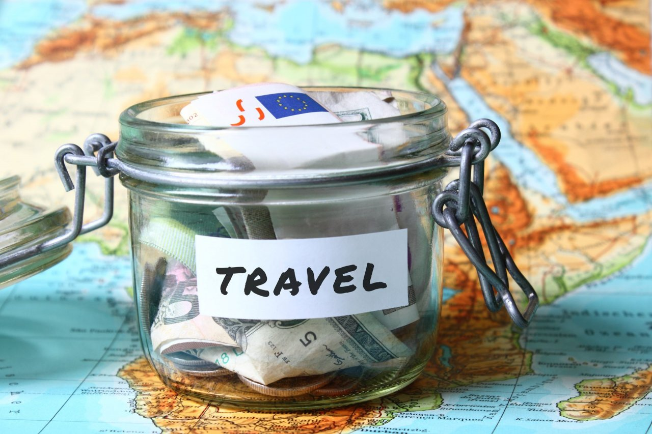 Saving for travels money pot