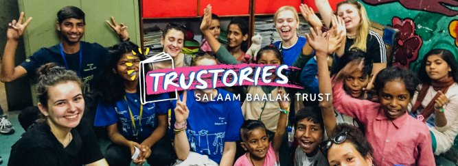 TruStories banner Children in classroom smiling