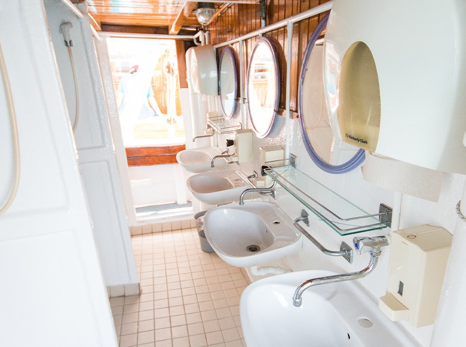 The toilets on the yacht in Croatia