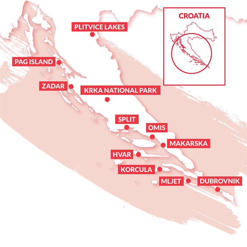 Country map of Croatia