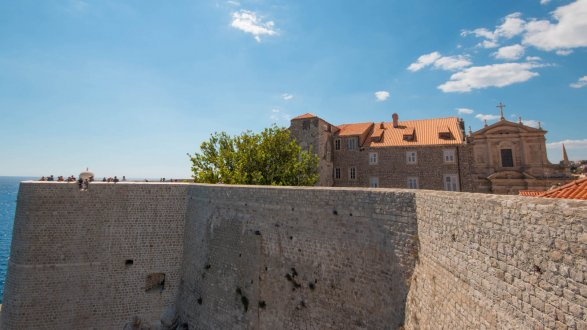 A photo from the sea walls in Dubrovnik, Croatia