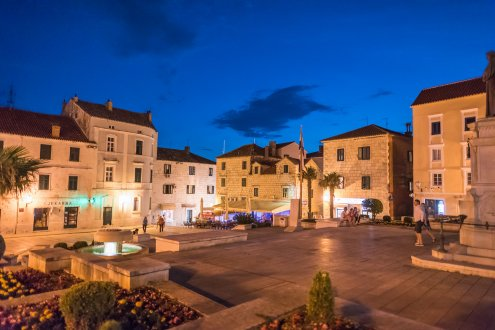 The town of Makarska in Croatia