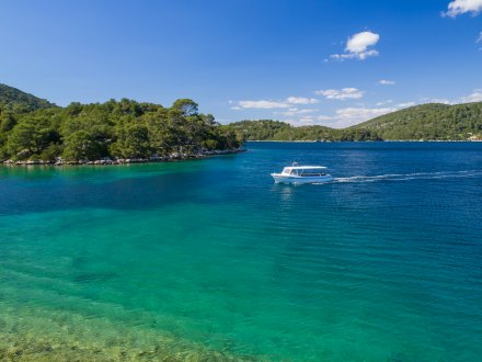 Clear blue and turquoise waters of Mljet, Croatia