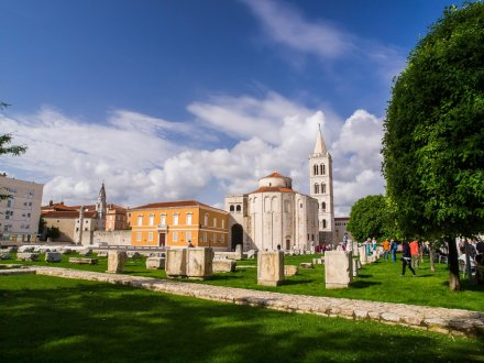 A picture of the city Cemetry in Croatia's capital, Zadar