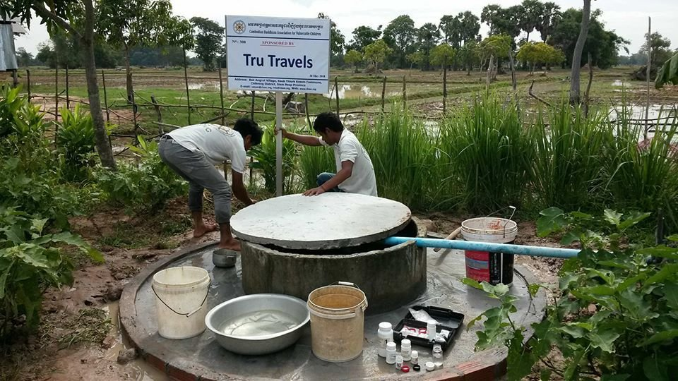 Trutravels giving back building water wells in cambodia