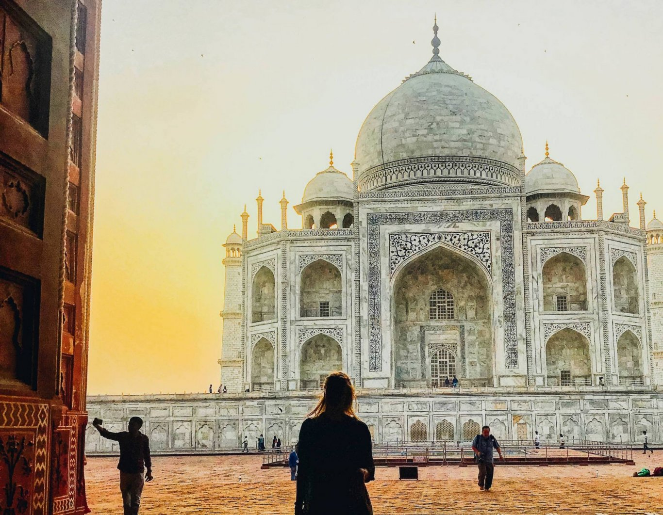 Taj Mahal, looking over the sunrise