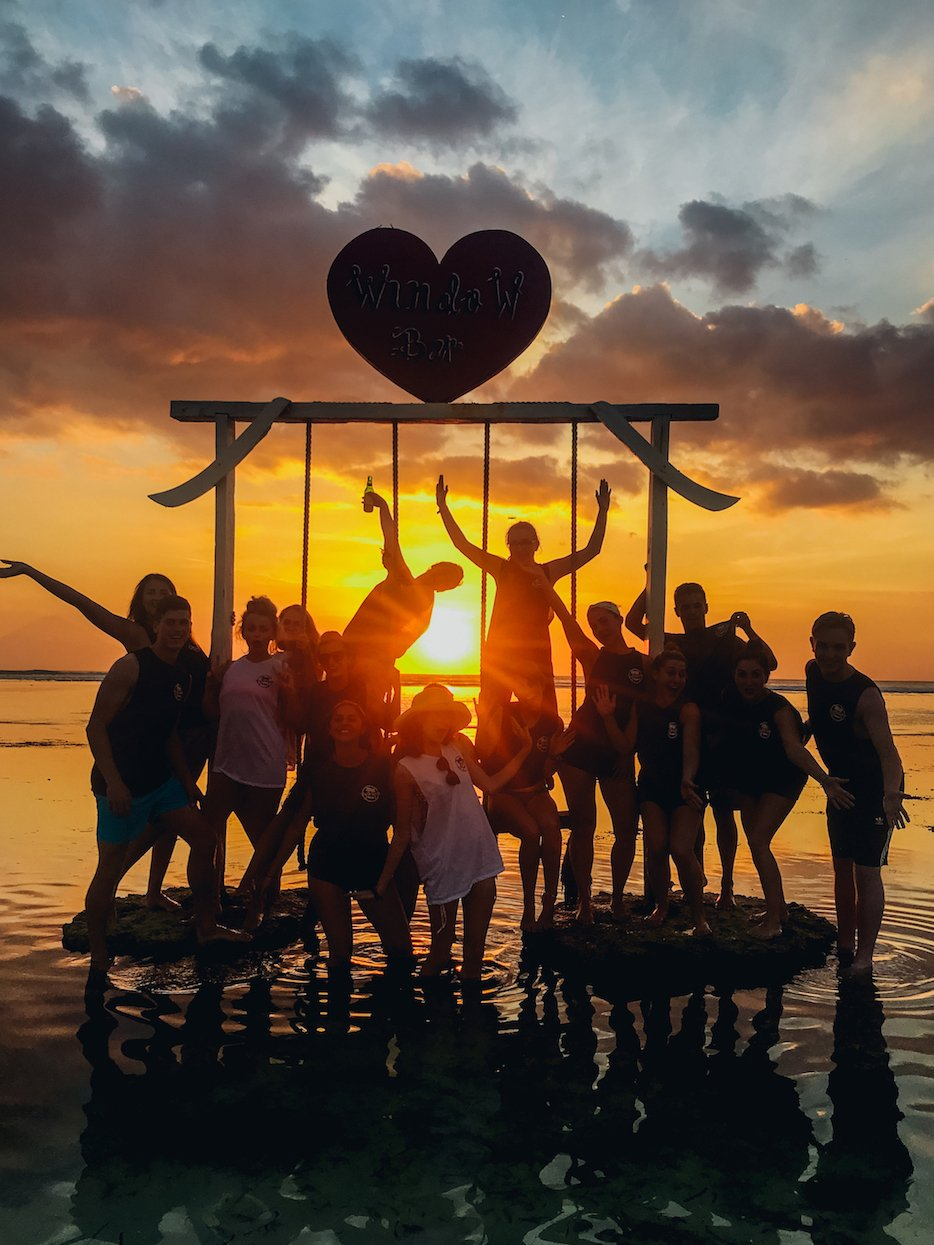 Sunset Bali - group photo
