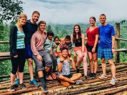 A group shot in Northern Thailand during the jungle trek