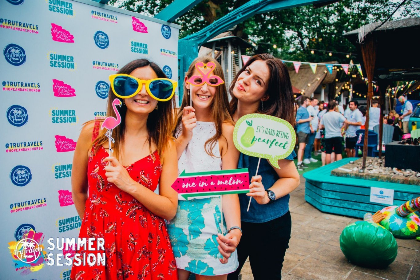 girls with masks at trutravels summer sessions